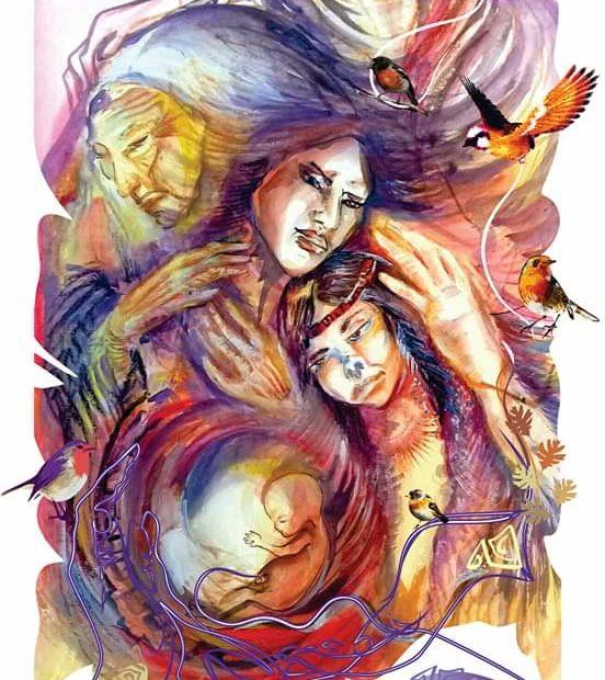 Ilustración: Feminización de los cuidados