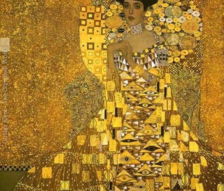 Gustav Klimnt,retrato de Adele Bloch-Bauer I. Imagen cortesía de www.klimntgallery.org.